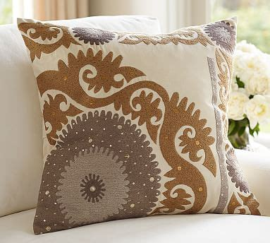 metallic suzani pillow cover pottery barn