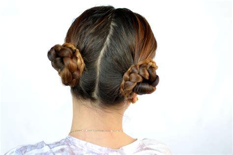 ways  create  braided cinnamon bun hairstyle wikihow