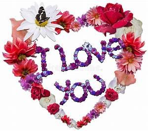 Blumen Der Liebe : sch nes herz gemacht von den verschiedenen blumen als symbol der liebe stockbild bild von ~ Orissabook.com Haus und Dekorationen