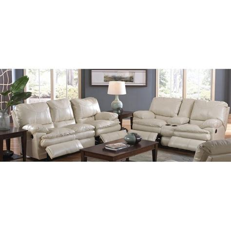 catnapper perez 2 piece reclining leather sofa set in ice