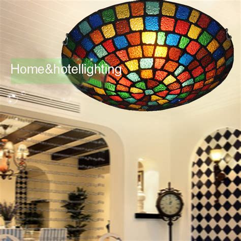 traditional ceiling lights style stained glass
