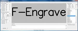 F engrave open source gcode generator for cnc engraving for Cnc lettering software