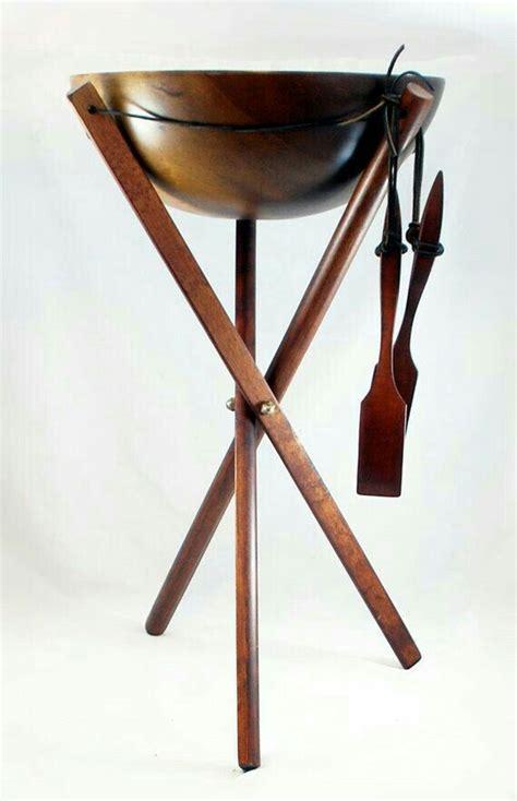 baribocraft maple wood salad bowl  legged stand