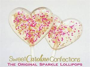 Pink And Gold Heart Valentine's Day Lollipops #2254408 ...