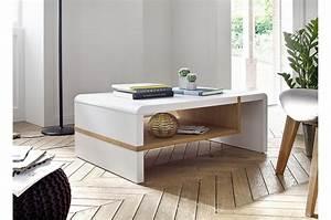 Table Salon Blanc Laqué : table basse de salon blanc laqu mat bois ~ Teatrodelosmanantiales.com Idées de Décoration