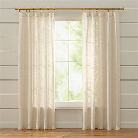 lindstrom sheer ivory curtains crate  barrel