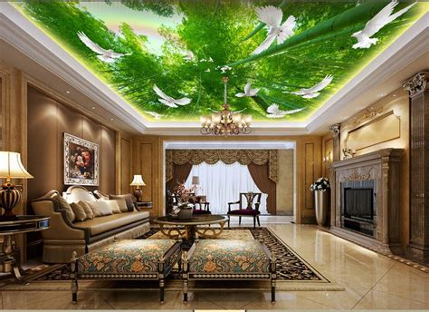 buy custom  wallpaper  ceiling