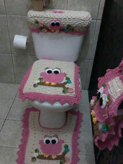 crochet owl bath sets 22 best images about banheiro 2 on toilets be