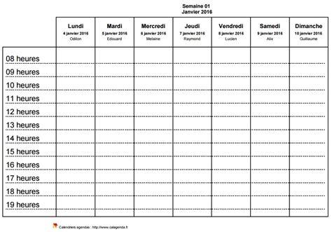 modèle planning hebdomadaire excel gratuit modele planning hebdomadaire a imprimer ccmr