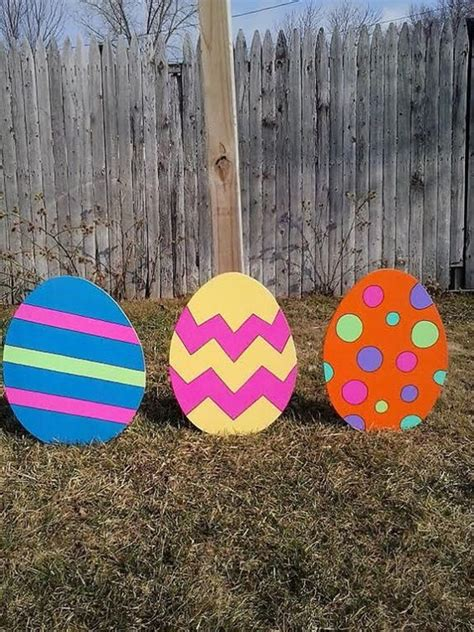 Easter Egg Garden Decoration by 40 Outdoor Easter Decorations Ideas To Make