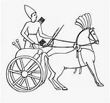 Chariot Template Coloring Carriage Egypt Ancient sketch template