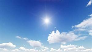 Sunny Sky With Clouds Background Stock Footage Video ...