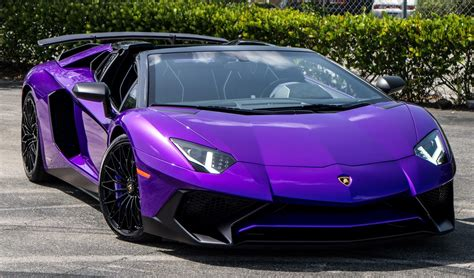 lamborghini ad personam builds purple aventador sv roadster