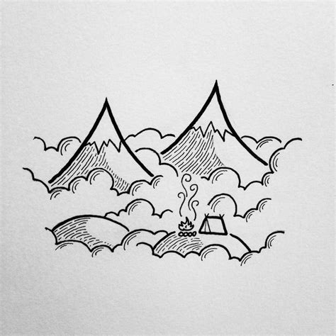 Simple Mountain Drawings Photo by Lovelydasani