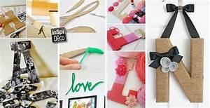 Lettre En Carton À Peindre : lettres d co fabriqu es en carton voici 15 id es ~ Nature-et-papiers.com Idées de Décoration