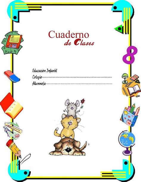 imagenes infantiles para caratulas carpetas cuadernos escolares imprimir 6 hobby website