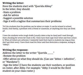 writing  letter  spanish