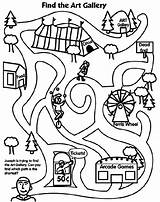 Maze Mazes Printable Easy Coloring Pages Crayola Festival Colouring Activities Animal Worksheets Fun Puzzle Fall sketch template