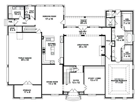 4 bedroom house plans 1 one house plans with 4 bedrooms