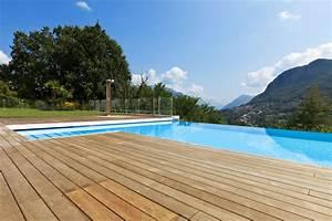Bordes de piscina en madera, suelo tipo deck