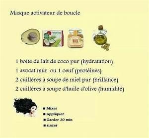 Soin Cheveux Bouclés Maison : cheveux masque activateur de boucle recette maison je veux en 2019 ~ Melissatoandfro.com Idées de Décoration