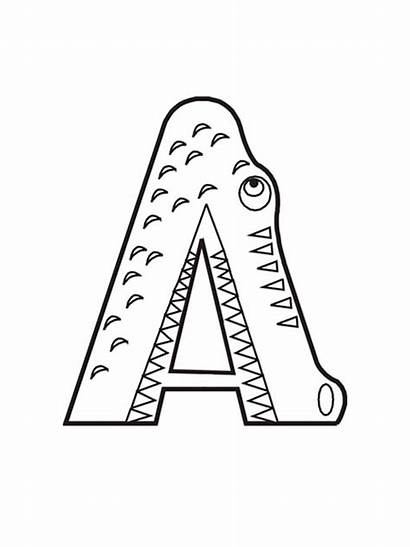 Letter Coloring Pages Alphabet Printable Mycoloring