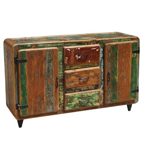 Salvaged Wood Sideboard by Roswell Rustic Reclaimed Wood 3 Drawer Sideboard Cabinet