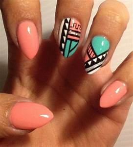 Customized Aztec Press On Nails Fake nails. Like the ...