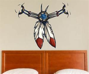 Native american vinyl wall decal nativeamericanuscolor005 for Kitchen colors with white cabinets with native american stickers for trucks
