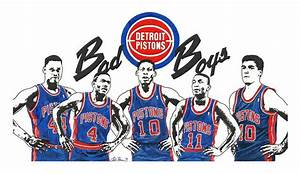Detroit Bad Boys Pistons Mixed Media by Chris Brown