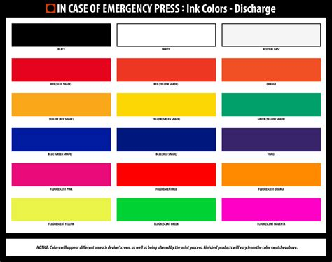discharge colors color of discharge discharge color guide causes and when