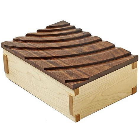 rippling waves keepsake box woodworking plan  wood