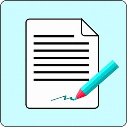 Signature Document Clipart Paper Clip Pencil Writing
