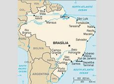 Brazil Map with Cities Free Pictures of Country Maps