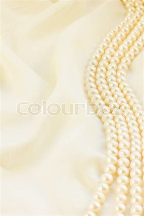 pastel silk  pearls border abstract background stock