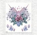 獨角獸 - 石英玫瑰 | BlingTattoo 刺青貼紙 ‧ 紋身貼紙