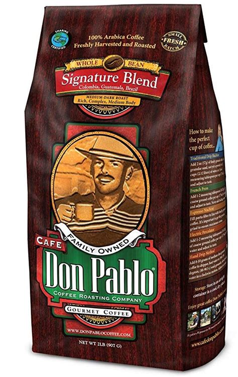 Don pablo bourbon infused coffee. 2LB Cafe Don Pablo Signature Blend Coffee - Whole Bean ...