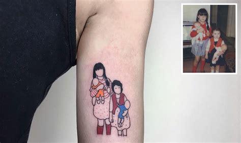 beautiful minimalist tattoos  fond family