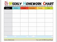 9 Best Images of Free Printable Homework Charts Track