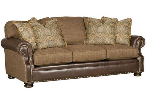 King Hickory Easton Leather Fabric Sofa 1600 Lf