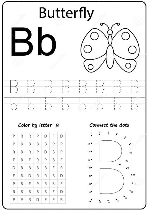 printable letter  worksheets  kindergarten preschoolers