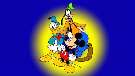 Goofy Mickey Mouse And Donald Duck Famous Characters Walt