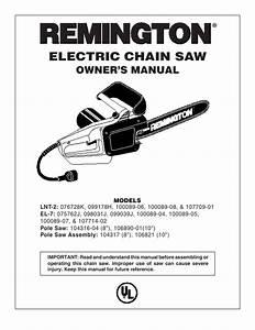 Remington Chainsaw 076728j  100089