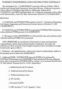 Sample Business Partnership Contract Turnkey Engineering And Construction Contract Agreements