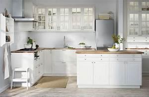 Ikea Cuisine Blanche : cuisine blanche ilot central ikea recettes cuisine ikea cuisine metod ikea et amenagement ~ Melissatoandfro.com Idées de Décoration