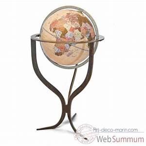 Globe Terrestre Sur Pied : globe mappemonde sur pied flute zoffoli dans globe terrestre marin ~ Teatrodelosmanantiales.com Idées de Décoration