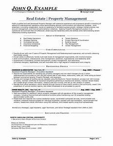 resume samples types of resume formats examples templates With property management company resume