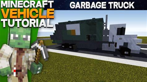 minecraft truck stop minecraft vehicle tutorial garbage truck youtube