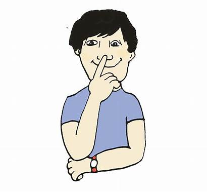 Clipart Nose Touch Language Japanese Gestures Touching