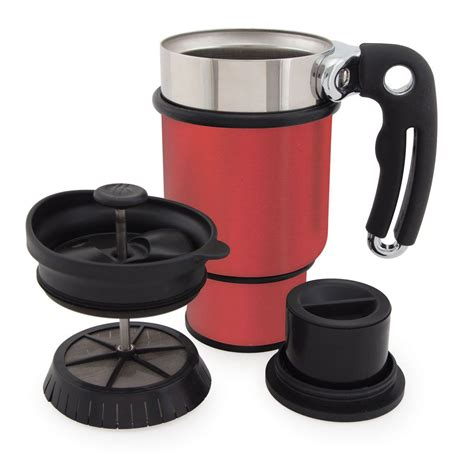 Designed for you to enjoy a single cup of french press coffee, you can guarantee plunger perfection every time and an excellent cup of joe. DoubleShot French Press Coffee Mug by Planetary Design (With images) | French press coffee maker ...